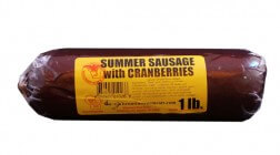 1 lb Cranberry Beef Sausage