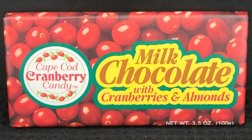 3.5 oz Milk Chocolate Covered Cranberries Bar