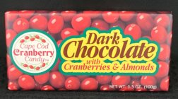 3.5 oz Dark Chocolate Covered Cranberries Bar